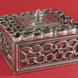 Square silver box — Stock Photo