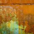 Colorful rust structures on an steam engine - Foto Stock