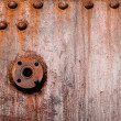 Colorful rust structures on an steam engine — Stock Photo #3332097