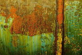 Colorful rust structures on an steam engine — Stock Photo