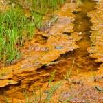 Ferrous creek in a mining area — Stock Photo