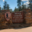 Stock Photo: Bryce Canyon Park entrance