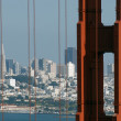 Golden Gate and San Francisco — Stock Photo