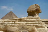 Pyramids and Sphinx — Stock Photo