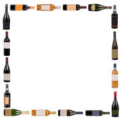 Wine bottles composition — Stock Photo