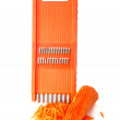 Grater and carrot — Stock Photo