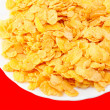 Crispy corn flakes on a plate — Photo