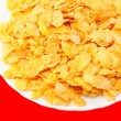 Crispy corn flakes on a plate — Stock fotografie