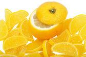 Lemon and Fruit jelly — Stock Photo
