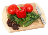 Ingredients for vegetable salad — Stock Photo