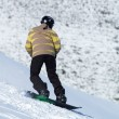 Stock Photo: Snowboard downhill