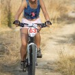 Stock Photo: Bike racer girl
