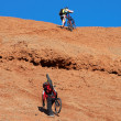 Biking Uphill — Stock Photo