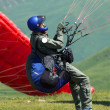 Stock Photo: Sky diver on start