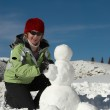 To a build snowman — Stock Photo