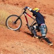 Foto Stock: Extreme bike uphill