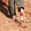 Barefoot on sang — Stock Photo #2697317