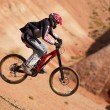 Stock Photo: Extreme mountain biking