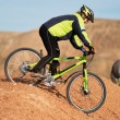 Freeride on red canyon - Stock Photo