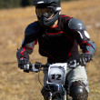 Stock Photo: Black biker