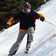Stock Photo: Ski downhill