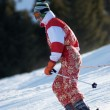 Stock Photo: Ski girl in red