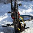 Winter mountain biking — Stock Photo