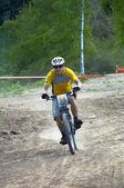 Bike downhil — Stock Photo