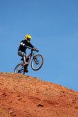 Start of jump extreme — Stock Photo