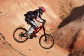 Extreme mountain biking — Stock Photo