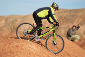 Freeride on red canyon — Stock Photo