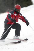 Red skier — Stock Photo
