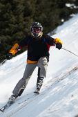 Ski downhill — Stock Photo