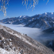 Above clouds in mountains — Stock Photo