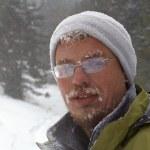 Snow storm man portrait — Stock Photo #2706855