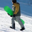 Snowboarder on ski slope - Stock Photo