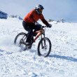 Snow Biker — Stock Photo