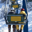 Two skiers on elevator — Stock Photo #2707824