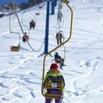 Ski elevator — Stock Photo