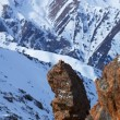 Rocks in winter mountain — Stock Photo
