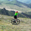Adventure mountain biking — Stock Photo