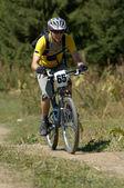 Bike racer — Stock Photo