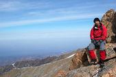 Mountain tourist — Stock Photo