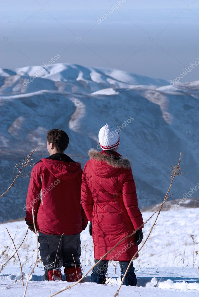 Man and Woman admiring the scenery  Stock Photo #2707664