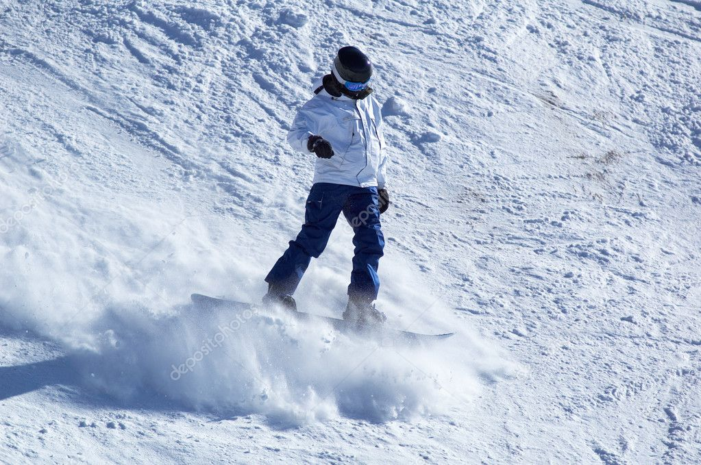 White snowboarder — Stock Photo #2707959