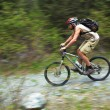 Speed motion mountain biker — Stock Photo #2710266