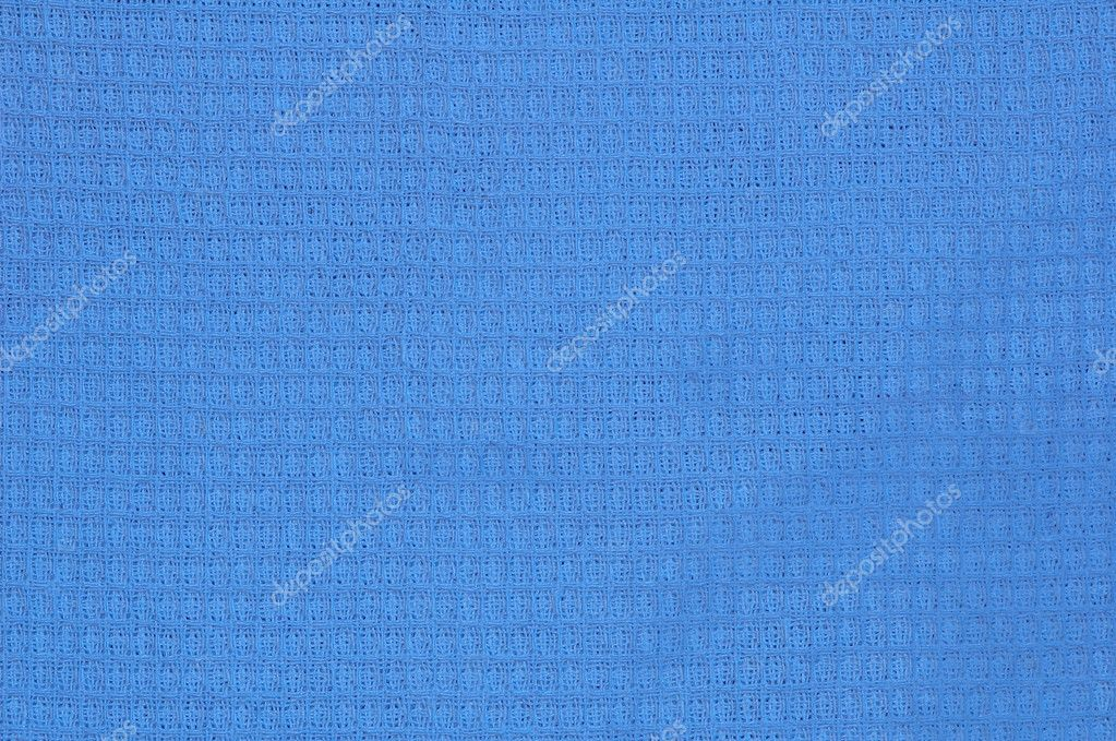 Blue waffle cloth texture  Stock Photo #2710947