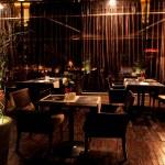 Interior night restaurant — Stock Photo