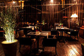 Interior night restaurant — 图库照片