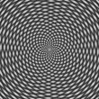Stock Photo: Optical illusion, black and white